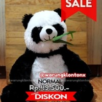 Boneka Panda Size L 40cm Lebih Besar Lucu Berkualitas