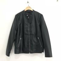 Jaket Faux Leather Pu LLandBear Original Not Zara Man HNM Lqcoste