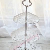 TK-6123-3 Cupcake stand cake tier karakter dessert table piring roti
