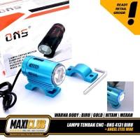 Lampu sorot tembak led touring projie projector braket stang nmax klx