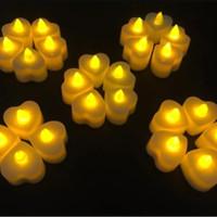 Lilin LED / Lilin elektrik / smokeless candle ( love )