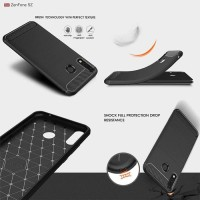 Softcase TPU Armor Carbon Fiber Case Cover Casing HP Asus Zenfone 5Z