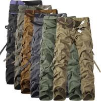 New 2018 Mens Cargo Pants Casual Mens Pant Multi Pocket Military