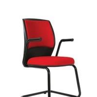Kursi Hadap Staf Murah Tanpa Roda Kursi Kerja Sekretaris Kantor Merah