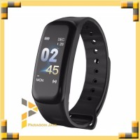 SmartBand C1S Color Hitam Smartwatch Smart Watch not Xiaomi Mi Band 3