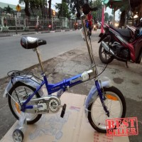 Sepeda - sepeda lipat 16 anak anak family touring Keren