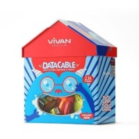 Vivan kabel data CSM100S new isi 40pcs micro cable data for android
