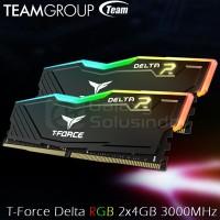 TEAM T-Force Delta RGB (2x4) 8GB DDR4 kit 3000MHz - Black
