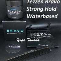 Jual Pomade Tezzen Bravo Waterbased Water based BPOM (FREE SISIR + POUCH) Murah