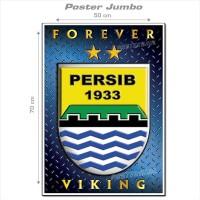 Poster Jumbo: LOGO PERSIB #FCL057 - ukuran 50 x 70 cm