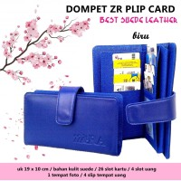 Card Pocket Hp zr kartu flip BIRU