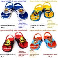 Sandal Anak Perempuan Karet Jepit Animal