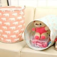 Storage Minimalis Keranjang Laundry Cucian Mainan Storage Organizer