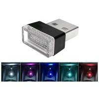 Lampu LED USB Dekorasi Interior Mobil - WARNA LED merah