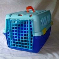 Kandang Kucing Box Cargo-Travel 2pintu Biru+Hijau