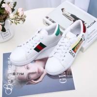 9ccfcf20424 Sepatu Import Sepatu Wanita GUCCI Ace Logo Sneakers VC G-719