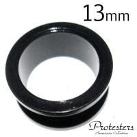 EAR PLUG 13mm / ANTING PIERCING HITAM