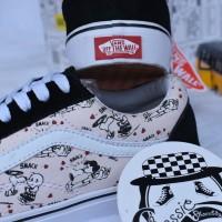 Sepatu Vans old skool Peanuts Smack pearl premium grade ori wanita