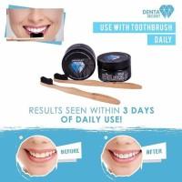 Denta Secret Charcoal Powder gratis tooth brush denta secret original