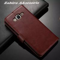 Premium Leather Flip Cover Stand Case Samsung Galaxy Grand 2 / G 7106