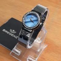 [ BGZ1103 ]..!! JAM TANGAN WANITA BREGENZ DIAMOND BLACK BLUE ORIGINAL