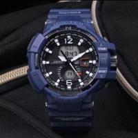 jam tangan sport digitec double time blue original