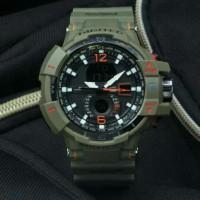 Jam Tangan Pria Digitec hijau Army Simple Elegan D2065 Original