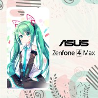 Casing Asus Zenfone 4 Max Custom HP Hatsune Milk Anime Girl L0661