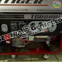 Genset bensin 5000 watt. Tiger TG8800E. Mak 6000 watt. Stater electri