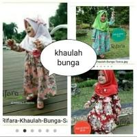 Gamis Anak- Gamis Anak Rifara Khaulah Bunga Ukuran XL