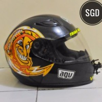 Sticker Stiker Decal Helm AGV V Rossi Sun Moon