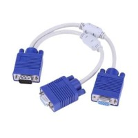 Kabel VGA Cabang 1 MALE KE 2 FEMALE/kabel vga splitter(cabang)