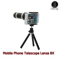 New Terbaru Telezoom Tele Zoom Lensa 8X Hp Telescope Iphone Xiaomi