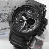 digitec 2078 full black hitam dual time original wateresist jam tangan