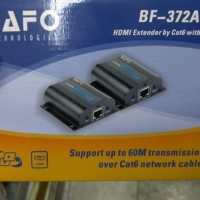 HDMI Extender BAFO BF-372A 60 Meter LAN CAT6 HDMI EXTENDER with IR