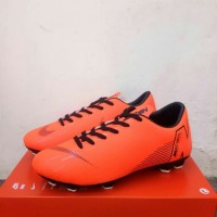 sepatu bola nike mercurial x seri ronaldo orange black