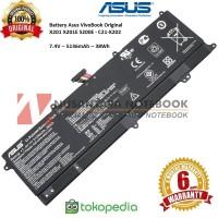 Baterai Laptop Original Asus VivoBook X201E X202E C21-X202 Polymer
