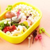 MELODY Garpu Tusuk Tusukan Buah Makanan Bento Fruit Fork Food Pick Set