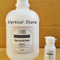 Acrylic Resin Keras Clear Bening Japan 1kg + Katalis 40ml