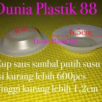isi600pcs MIKA SAMBAL PUTIH SUSU plastik wadah tempat sambel saus saos