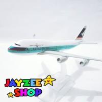 Pesawat diecast miniatur besi Cathay Pacific Boeing 747-400