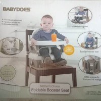 Babydoes Baby Foldable Booster Seat Kursi Duduk Makan Bayi Original