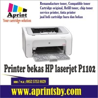 printer bekas hp laserjet p1102 1102 cartridge toner 85a siap pakai