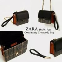 a990eb1f8304 Tas Zara Houdstooth Crossbody Original n Zara Clutch handbag - arista