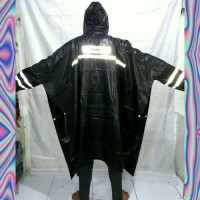 Jas Hujan Ponco Lengan Black / Jas Hujan Poncho Tangan Hitam Tebal