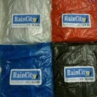 Jas Hujan Stelan Baju+Celana Transparan Warna Rain City Ritz Murah.