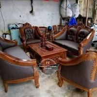 Sofa Ruang Tamu/ Meja Kursi Ukir/ Meja Kursi Kayu Jati Bebas Ongkir