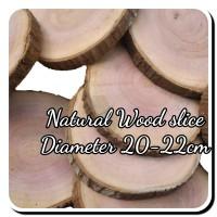 Wood slice chips 20-22 cm kayu log hiasan dinding dekorasi craft