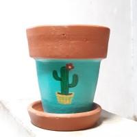 Pot Terracotta-Pot Tanah Liat-Diameter 10cm-Pattern 1
