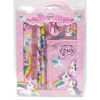 Stationery Set Dompet My Little Pony Alat Tulis Anak Perempuan Pink